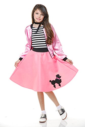 Charades Child's Costume Poodle Dress, Pink, (Poodle Costumes For Kids)