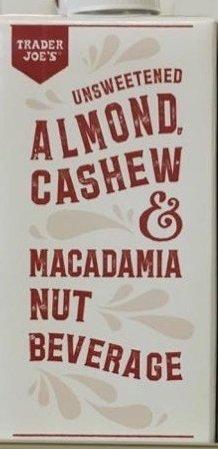 Trader Joe's Almond Milk Beverage Trio: Matcha Almond Beverage, Blueberry Lavender Flavored Almond Beverage, Unsweetened Almond Cashew and Macadamia Nut Beverage by TraderJoe (Image #3)