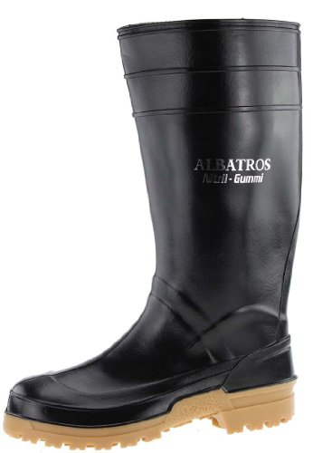 Albatros Albatros Nitril- Berufsgummistiefel in schwarz, 47