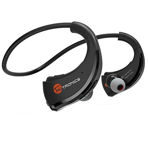 Écouteurs Sport TaoTronics – Casque Intra-auriculaires Stéréo Bluetooth 4.1 Sans-fil Anti-sueur pour le Jogging et l'Entrainement ( 10 Heures de Musique Micro Intégré Réduction de Bruit CVC 6.0 )