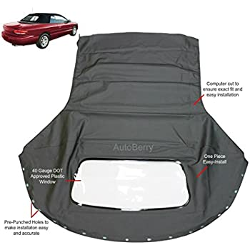 Amazon Sierra Auto Tops Patible Replacement For 19962006. Fits Chrysler Sebring 19962006 Convertible Top Plastic Window Black Sailcloth 1 Piece Easy Install. Chrysler. Plastic Interior Parts Diagram 2008 Chrysler Sebring At Scoala.co