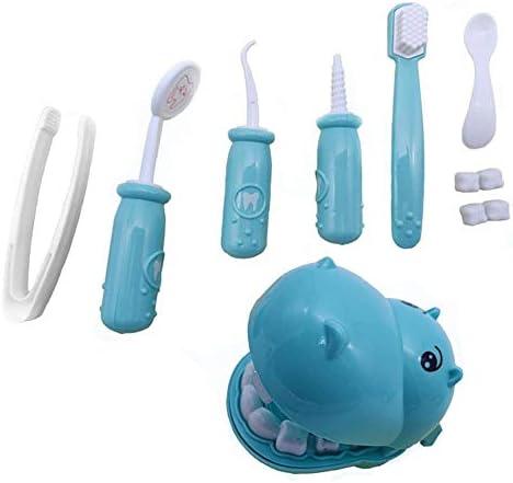 SUGE ままごと お医者さん 遊びごっこ 歯科ごっこ 子供 おもちゃ お医者さんセットプラスチック製 ミニドクター 歯科医 知育玩具 9点セット