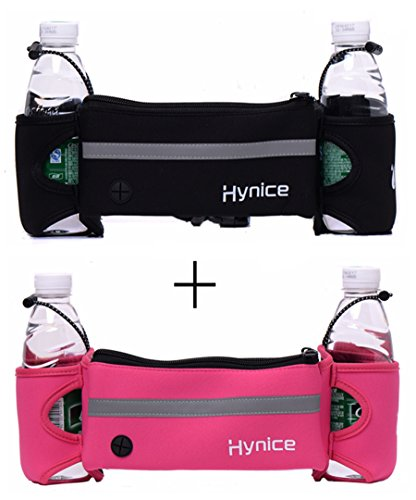 Hydration Running Belt,Hynice Fitness Runners waist pack with water bottle holder ,Cellphone Zipper Pockets for iPhone 6 6plus S7 S6 Fit Men Women