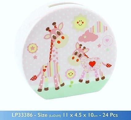 Baby Pink Lesser /& Pavey Carousel Money Box
