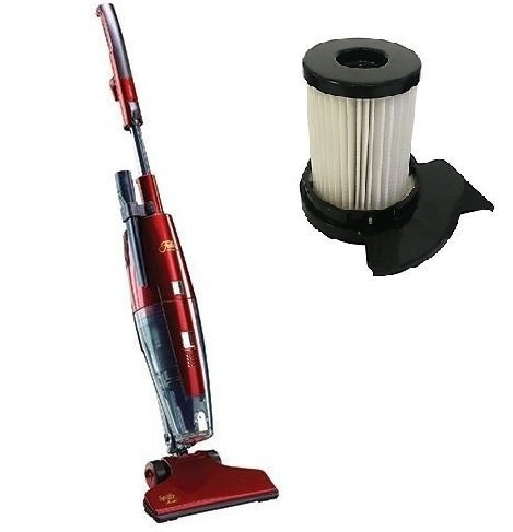 Fuller Brush Spiffy Maid Bagless Broom Vacuum Cleaner and Replacement HEPA Filter