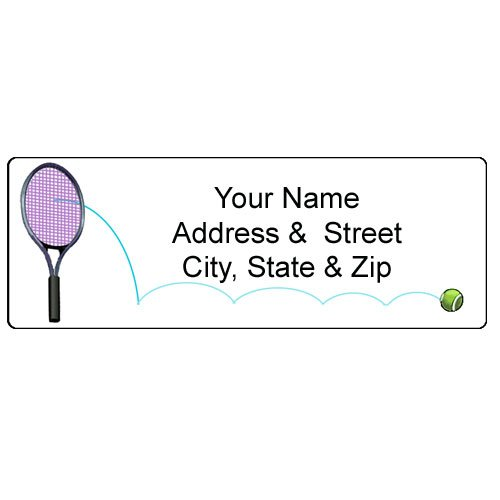 Tennis Address Label - Customized Return Address Label - 90 Labels from Stonehouse Collection
