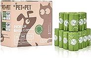 PET N PET Biodegradable Poop Bags Compostable Dog Waste Bags 240 Counts 16 Rolls Poop Bags Pet Clean up Bags G