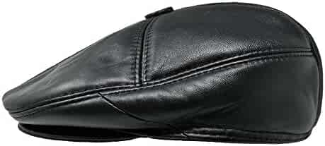 f405ef471d0 TangTown Soft Lambskin Leather Flat Cap Gatsby Newsboy Driving Warm Winter  Ivy Hat