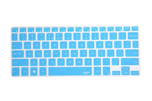Leze - Silicone Keyboard Cover Protector for Dell XPS 13-9343 9350 9360 13.3-Inch Ultrabook Laptop Semi - Blue