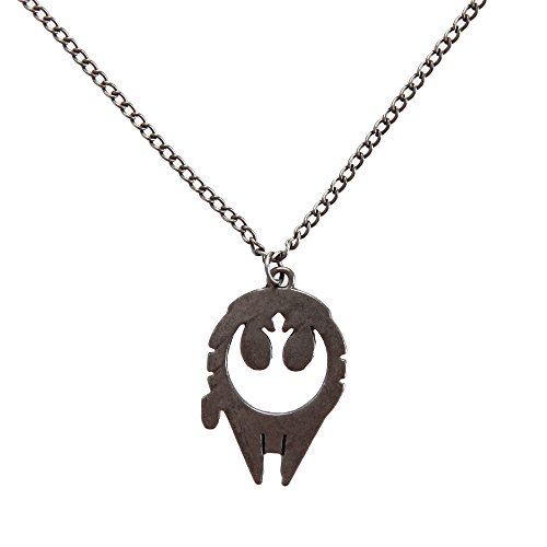 Star Wars Millennium Falcon Rebel Alliance Fashion Pendant Necklace (Rebel Alliance Star Wars)