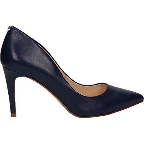 Guess Bennie - Zapatos de vestir de Piel para mujer blanco Bianco 40 azul Size: 37