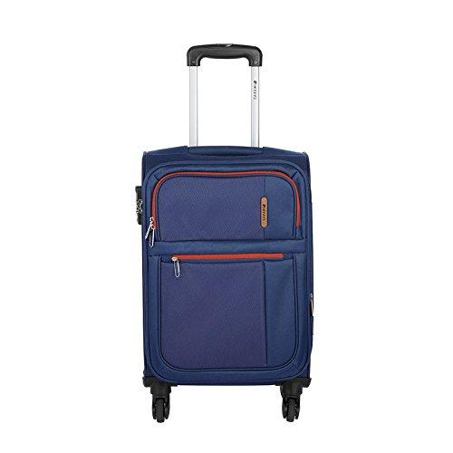 Safari Hush Polyester 55 cms Blue Soft Sided Luggage (Hush-4W-55-Blue)