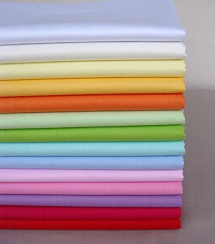14 unids 40 cm * 50 cm Tela de Algodón Sólido Liso Para Coser Acolchado Patchwork Textil Tilda Muñeca Paño Del Cuerpo: Amazon.es: Hogar