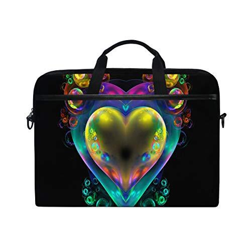 - Unique Transparent Love 14-15 inch Laptop Case Computer Shoulder Bag Notebook Tablet Crossbody Briefcase Messenger Sleeve Handbag with Shoulder Strap Handle for Women Men Girls Boys