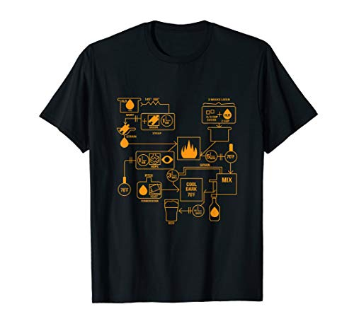 Beer Brewing Schematic T-Shirt Ferment Alcohol Tee