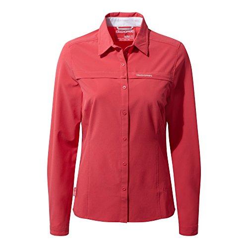 Larga Para Rosa Insectos Repelente Manga Camisa Pétalo Craghoppers A De Mujer qwUaW1t