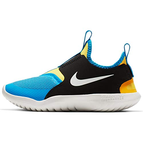 Nike Kids' Preschool Flex Runner Running Shoes (12K, Black/Yellow/Royal)