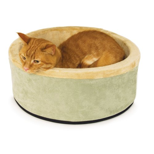 K&H Pet Products Thermo-Kitty Heated Pet Bed Small Sage 16