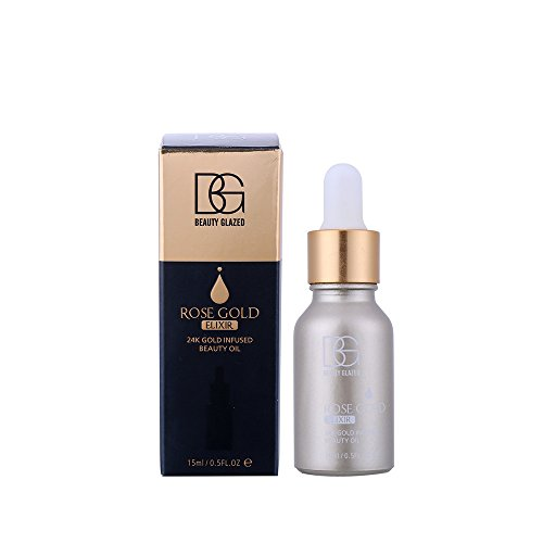 Line Smoothing Liquid Makeup Foundation (Hanyia 24k Facial Elixir Skin Makeup Oil Beauty Oil Essential Oil Before Foundation Primer Moisturizing Face Oil 15ML)