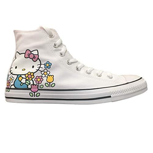 Converse Chuck Taylor All Star Lo Hello Kitty Fashion Sneakers (5 M US Women / 3 M US Men, White/Pink/White)