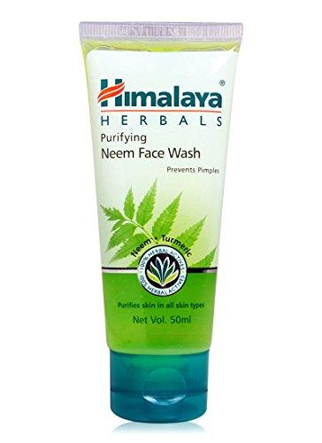 Himalaya Herbals Purifying Neem Face Wash, 50ml (2 pack)