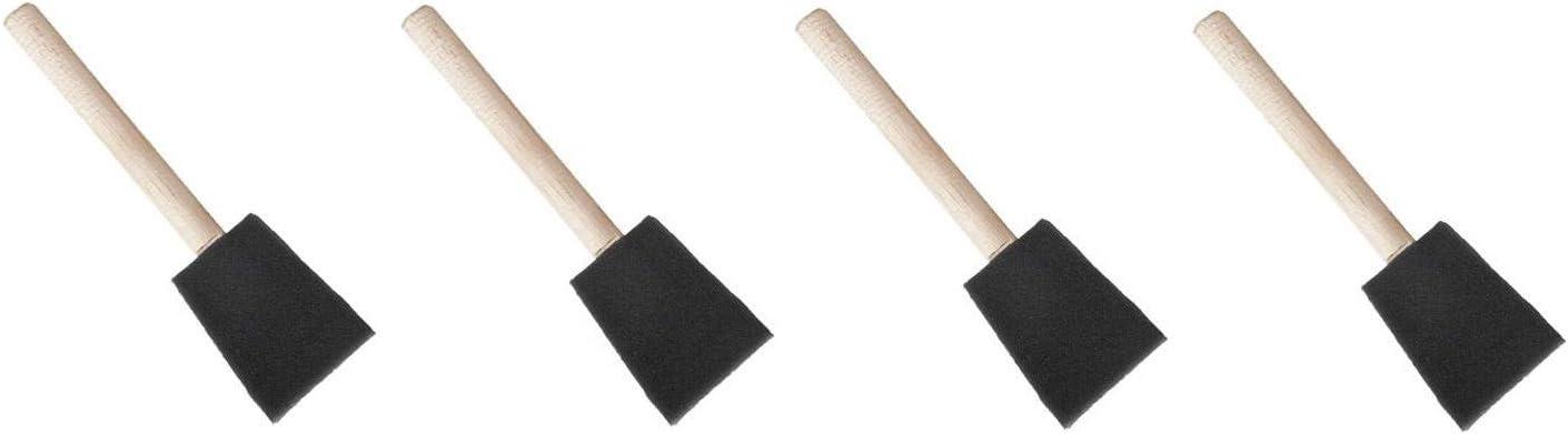 Foam Paint Brush Sponge Wood Handle Bevel-tipped Brush Art Craft Painting Brush