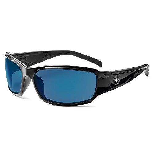 Skullerz Thor Safety Sunglasses - Black Frame, Blue Mirror - Nemesis Sunglasses