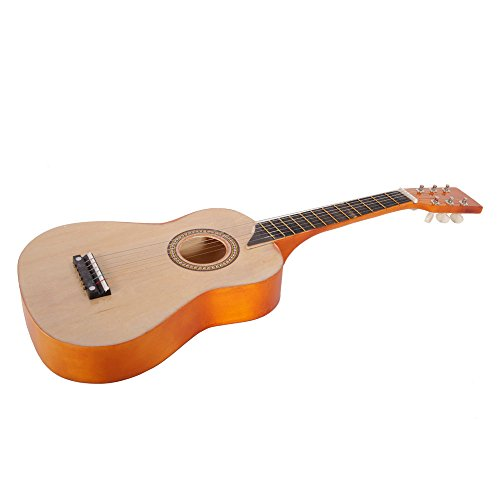 25″ Acoustic Guitar Toy with Pick String (Wood Color)