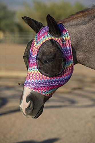 Professional's Choice Comfort Fit Lycra Horse Equine Fly Mask Mesh Ears (Cob, ()