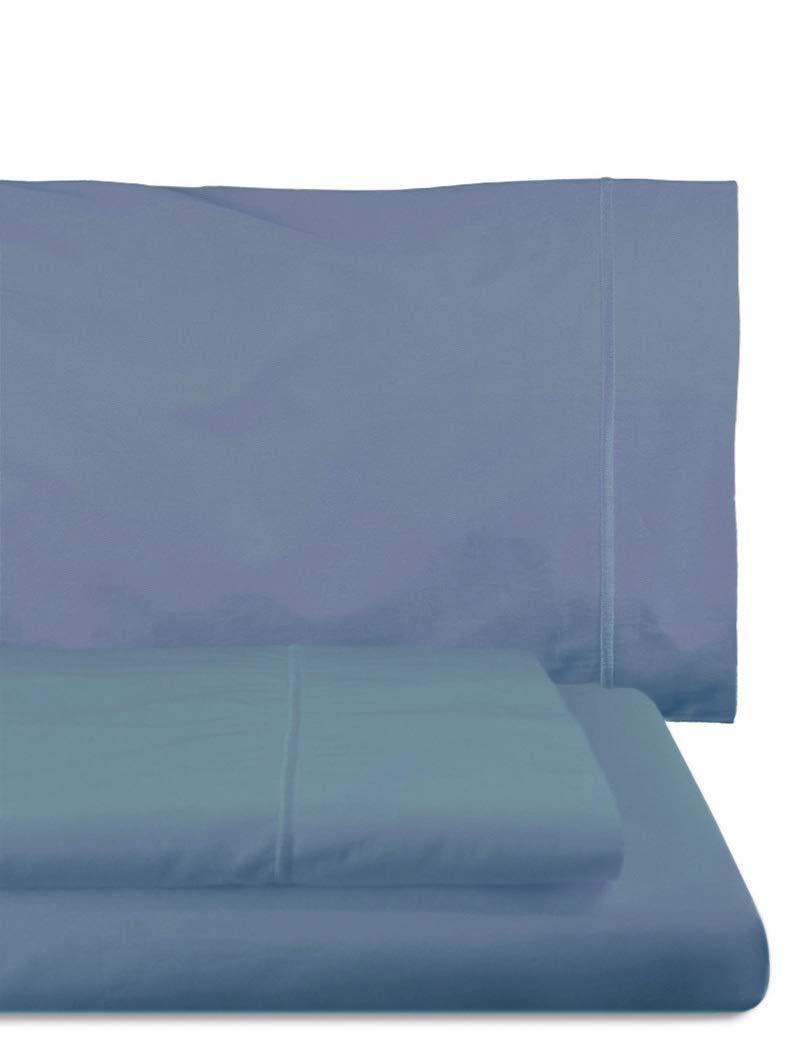 Home Royal - Juego de sábanas compuesto por encimera, 250 x 285 cm, bajera ajustable, 158 x 200 cm, 2 fundas para almohada, 45 x 85 cm, color mar