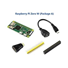 Raspberry Pi Zero W with Built-in WiFi and Bluetooth Development Kit Package Type A Basic Components Include Mini HDMI to HDMI Adapter Micro USB OTG Cable