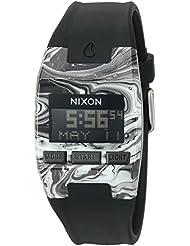 Nixon Mens Comp S Plastic and Silicone Automatic Watch, Color:Black (Model: A3362193-00)