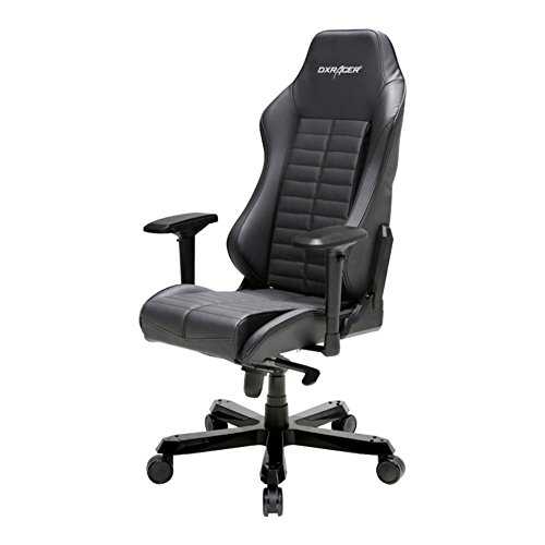 41PdkrLuUqL - DXRacer-OHIS188N-Black-Full-Grain-Leather-Iron-Series-Gaming-Chair