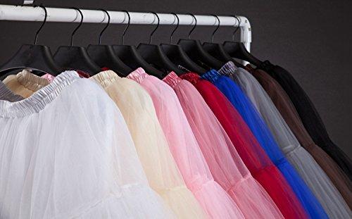 SCFL adulto de lujo suave de la gasa de la enagua de tul falda del tutú de las mujeres del tutú del ballet del traje de la danza de múltiples capas de la enagua de la falda hinchada azul