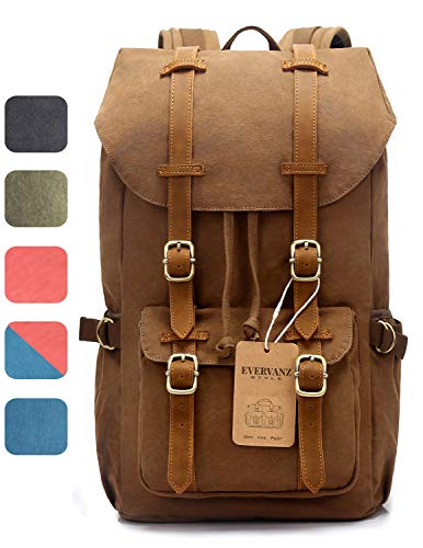 a31423b772 Cotton canvas unisex travel backpack with laptop s the best Amazon ...