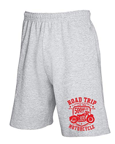 Tuta Tb0364 Grigio Road shirtshock Trip Motorcycle Pantaloncini Vintage T 6w4BAE