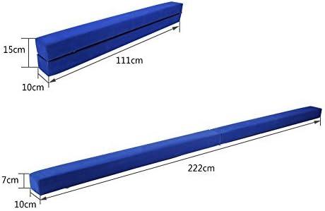 GOTOTOP Trave da Ginnastica Ripiegabile da 220 cm,Equilibrio Pieghevole da Ginnastica,Trave di Equilibrio per Palestra Formazione