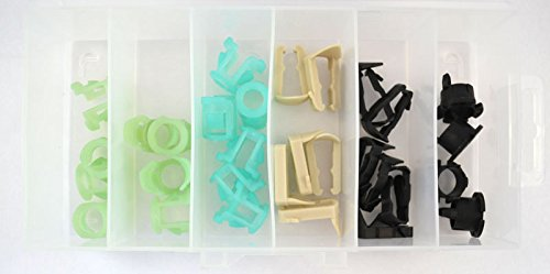 OPK335 Fuel Line Retainer Clip Assortment (32 Pcs) - Fuel Line Clip