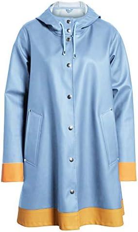 SUNAELIA Women's Raincoat with Hood Lightweight Outdoor Waterproof Rain Jacket