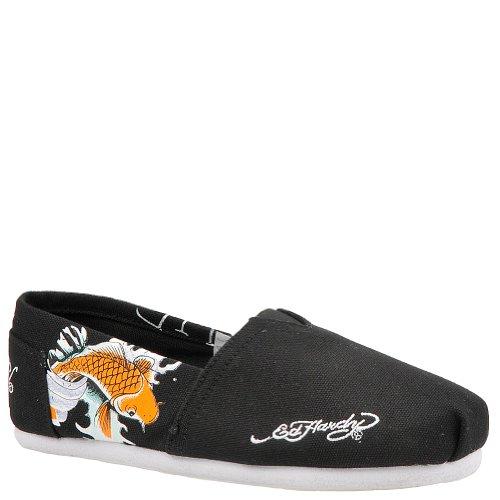 Ed Hardy BAHAMAS Womens Canvas Top Slip-On Shoes Black VA170