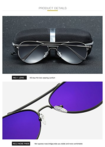 UV para Mujer Gafas Sol Hombre 400 Aviator C1 Polarizadas para C1 Protección De ncTBwTHq6