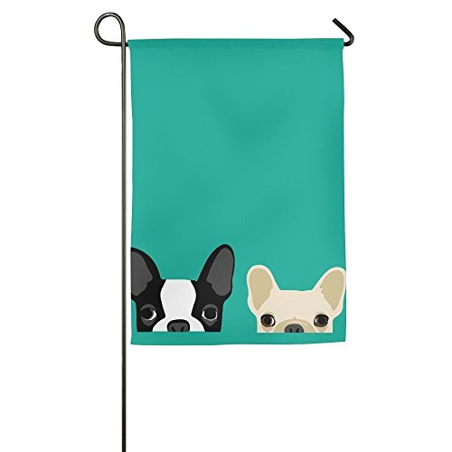 Brownrio French Bulldog Garden Flag Indoor & Outdoor Decorative Flags For Parade Sports Game Family Party Wall Banner,12x18inch