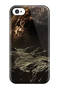 Premium Space Sci Fi People Sci Fi Back Cover Snap On Case For Iphone 4/4s
