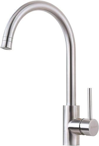 Bokaiya Kitchen Faucet Bar Sink Faucet Stainless Steel Single Handle Single Hole Brushed Nickel Kitchen Faucet