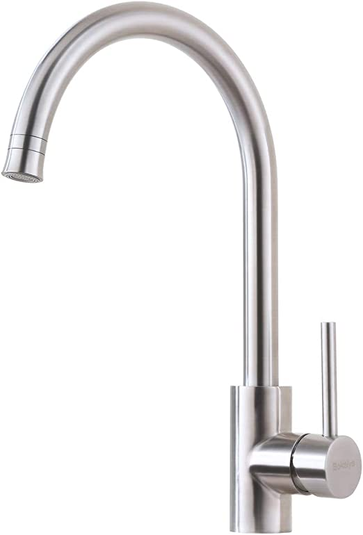 4 Hole Brushed Nickel Kitchen Faucet Bokaiya Kitchen Faucet With Sprayer High Arch Stainless Steel Double