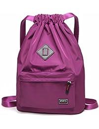 Gym Drawstring Bags, Wraifa Men Women Waterproof Drawstring Backpack Yoga  Bag (Gym Drawstring Bags db81740b0c