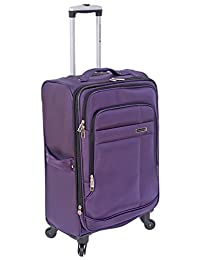 "Air Canada 24"" Lightweight Expandable Spinner Travel Luggage with Compression Straps Purple"