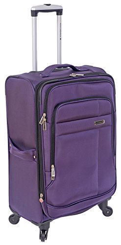 air-canada-24-lightweight-expandable-spinner-travel-luggage-with-compression-straps-purple