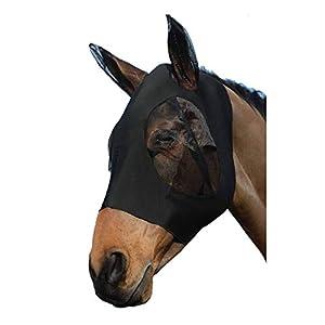 ciraume - Maschera Anti-Mosche per Cavalli, Anti-UV, con Orecchie, Protezione Anti-Mosche per Cavalli, Coccinelle, Pony 8 spesavip