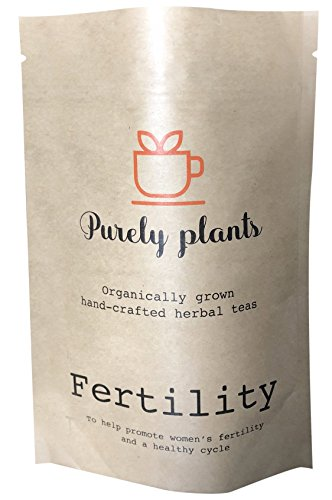 Purely Plants Fertility Herbal Tea for Women & Womens Health Non GMO Organically Grown for Hormone Health & a Healthy Cycle - Vitex, Dong Quai, Red Clover, Spearmint, Raspberry Leaf, Oatstraw, Nettle